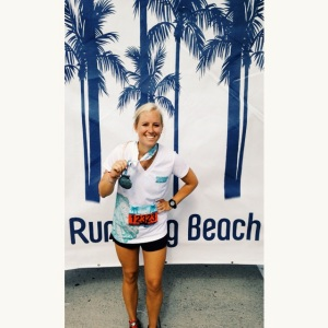 official finisher's picture with my medal