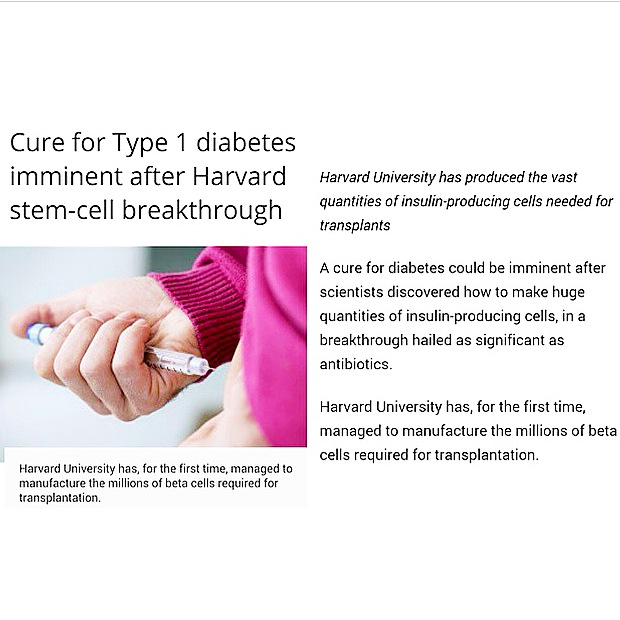 cure for diabetes news article