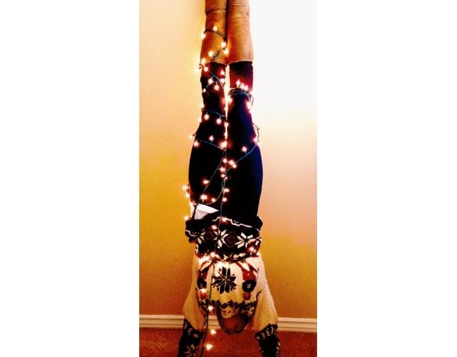 yoga handstand pose