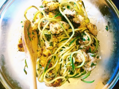 Cilantro Lime Chicken with Zucchini Noodles