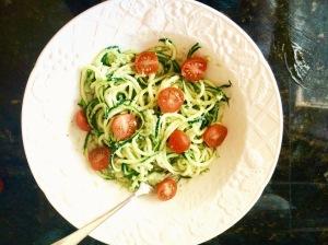 zucchini avocado basil sauce