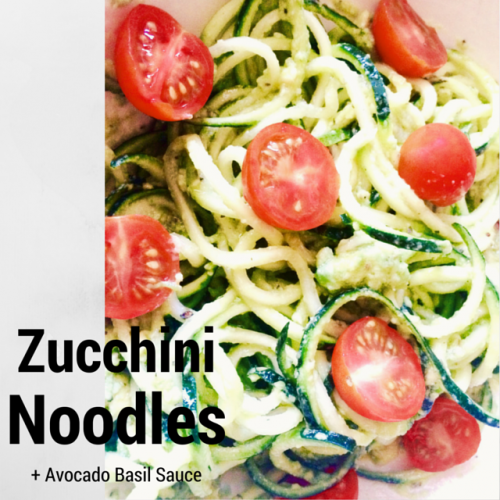 zucchini noodles with avocado cream sauce