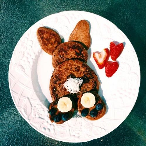 paleo bunny pancakes