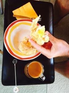 Dad enjoying his breakfast