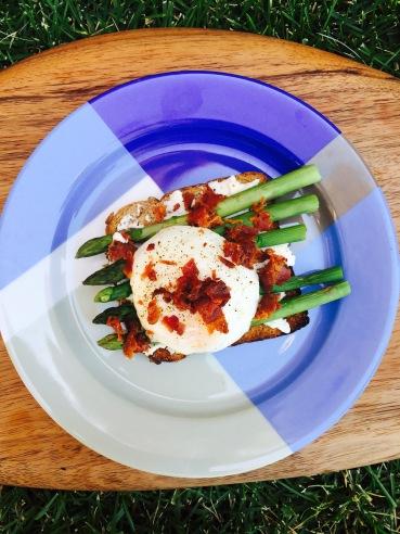 egg dish on graqss