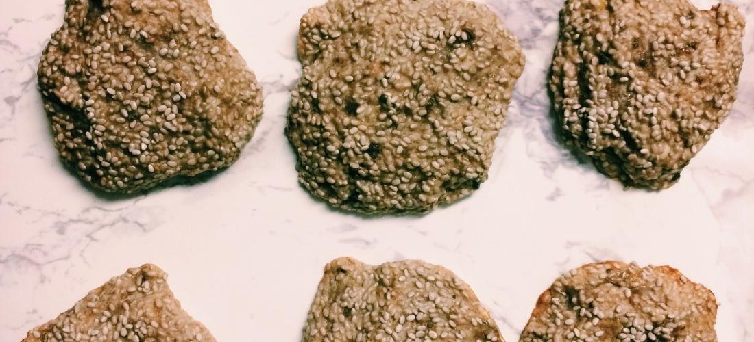 banana chia seed cookies